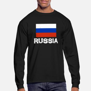 Russia Russia National Pride Russian Flag Design - Men's Long Sleeve T-Shirt