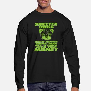 Rescue Dog Shelter Dog Rescue Gift for Pet Lovers - Men's Long Sleeve T-Shirt