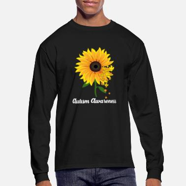 Autism Sunflower Autism Awareness - Men's Long Sleeve T-Shirt