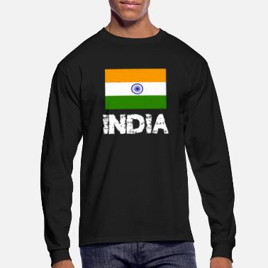 India India National Pride Indian Flag Design - Men's Long Sleeve T-Shirt