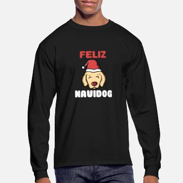 Naughty Feliz Navidog Christmas Dog - Men's Long Sleeve T-Shirt