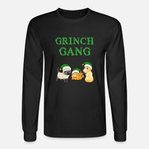 mens long sleeve t shirt - Grinch Ugly Christmas Sweater