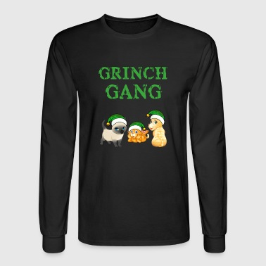 Grinch Meowy Cat Grinch Gang Ugly Christmas Sweater - Men's Long Sleeve T-Shirt