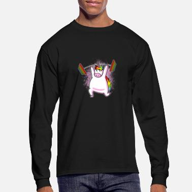 Lifting (Gift) Unicorn lifting - Men's Longsleeve Shirt