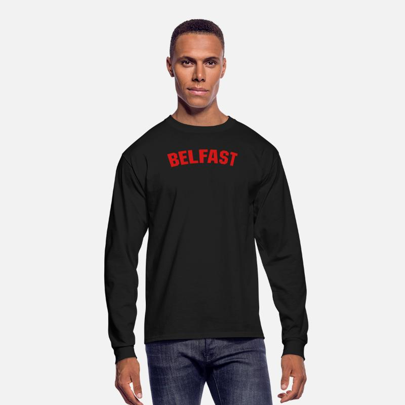 Belfast Long sleeve shirts - Belfast - Men's Longsleeve Shirt black