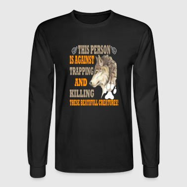 WOLF THESE BEAUTIFUL CREATURES - Men's Long Sleeve T-Shirt