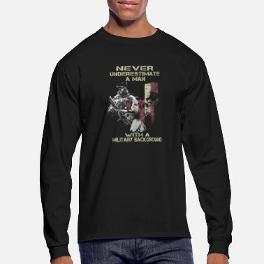 Military Military - A man with a military background tee - Men's Long Sleeve T-Shirt