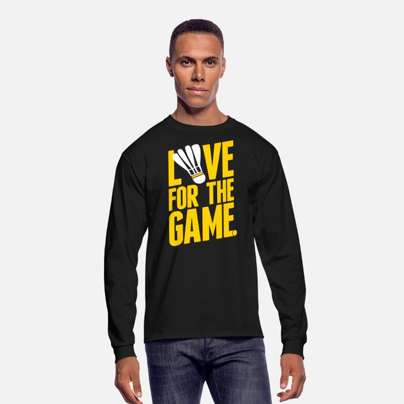 Badminton Long sleeve shirts - badminton - love for the game - Men's Longsleeve Shirt black