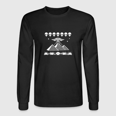Pyramids UFO - Men's Long Sleeve T-Shirt