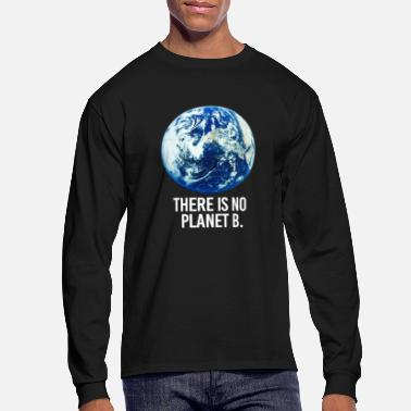 Planet there is no planet - Men's Long Sleeve T-Shirt