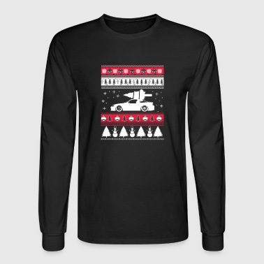 Ugly Christmas sweater for car lover - Men's Long Sleeve T-Shirt