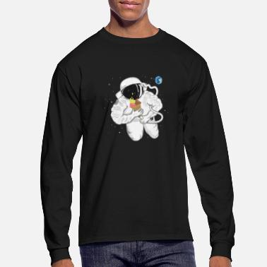 Astronaut with ice cream cone  - Men's Long Sleeve T-Shirt