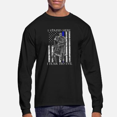 Chivalry Crusader - I stand here fearing no evil flag tee - Men's Longsleeve Shirt