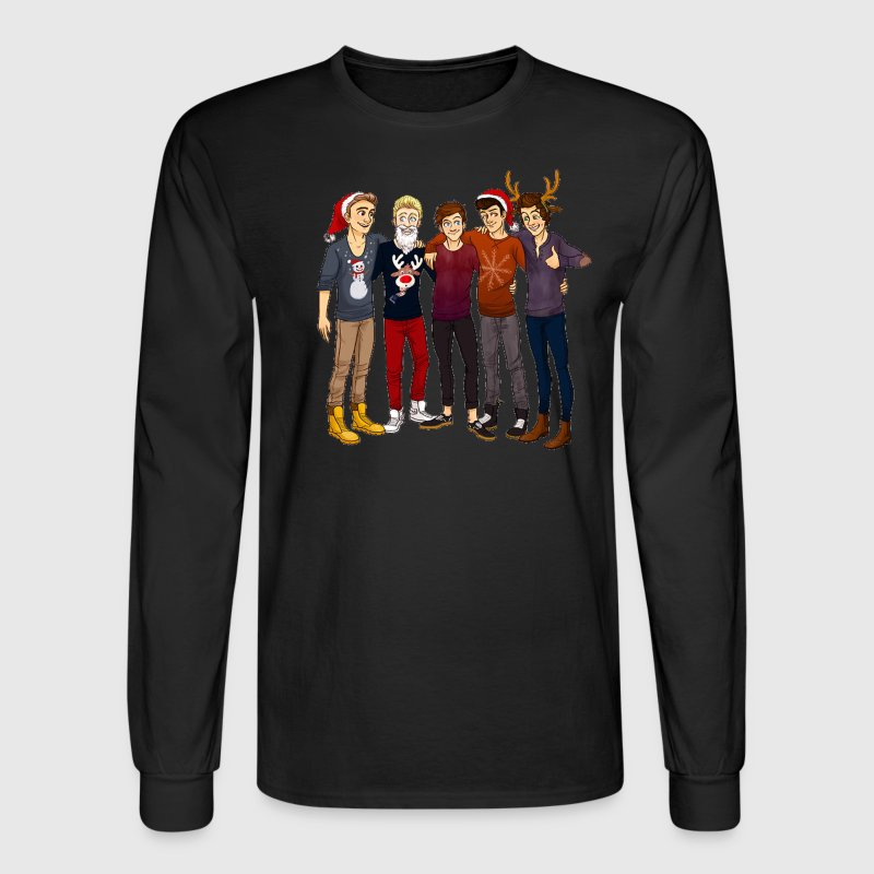 One Direction themed Christmas Sweatshirt - Men's Long Sleeve T-Shirt