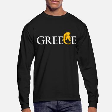 Greece Greece gift outline flag flag map - Men's Longsleeve Shirt