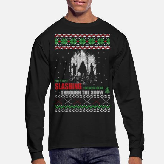 Zombie Christmas Sweater.Zombie Christmas Crewneck Men S Longsleeve Shirt Spreadshirt