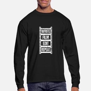 Editor Write Shoot Edit Gift for Film Makers Movies - Men's Longsleeve Shirt