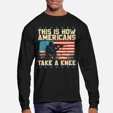 Take This Is How Americans Take a Knee - Men's Longsleeve Shirt