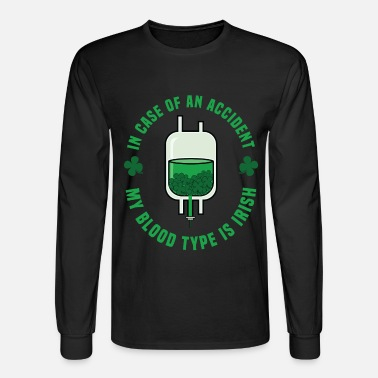 b001abd19 St Patricks Day - Irish Funny Blood Type Unisex Tri-Blend T-Shirt ...