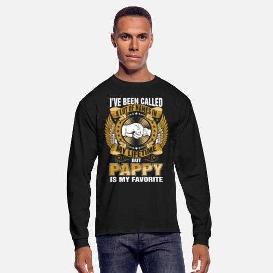 My Long-Sleeve Shirts - My Lifetime Pappy Is My Favorite - Men's Longsleeve Shirt black