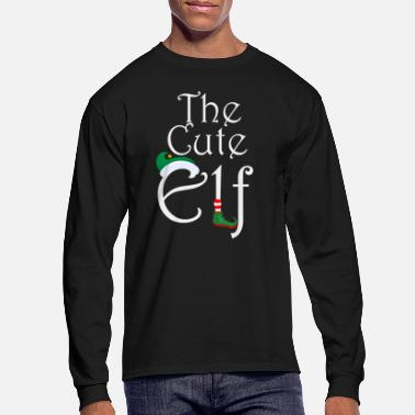 Elf The Cute Elf - cute Christmas design - Men's Longsleeve Shirt