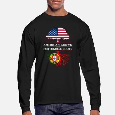 American American Grown with Portuguese Roots Portugal - Men's Longsleeve Shirt