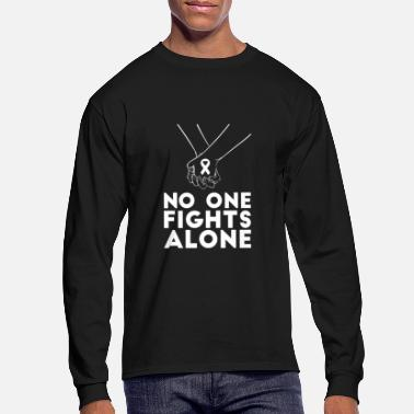 Fight No one fights alone cancer awareness - Men's Longsleeve Shirt