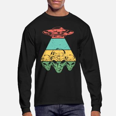 Retro Space Ship Tee Shirt Alien Lover - Men's Longsleeve Shirt