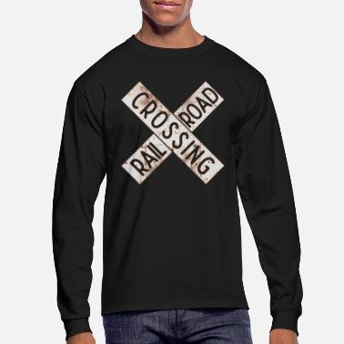 Railway Track Cross railway tracks - Men's Longsleeve Shirt