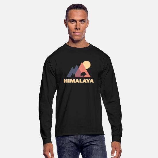 Forest Long sleeve shirts - himalaya - Men's Longsleeve Shirt black
