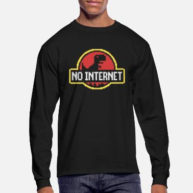 Back To The Past - NO INTERNET - Men's Longsleeve Shirt
