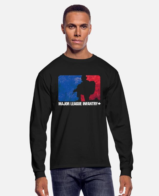 Infantry Long-Sleeved Shirts - Major League Infantry Canada - Men's Longsleeve Shirt black