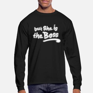 Couple-She's the Boss - Men's Longsleeve Shirt