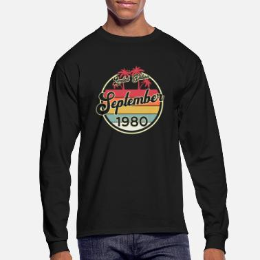 Congratulations Vintage 40th Birthday September 1980 Sports Gift - Men's Longsleeve Shirt