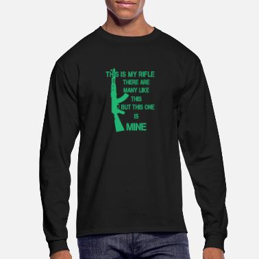 Ussr This is my Rifle AK-47 assault rifle gift - Men's Longsleeve Shirt