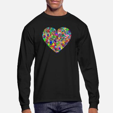 Rainbow Rainbow Heart - Men's Longsleeve Shirt