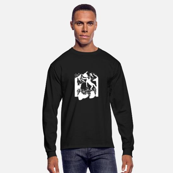 Nature Long-Sleeve Shirts - Climbing Shirt - Mountains - Climber - Mountain - Men's Longsleeve Shirt black