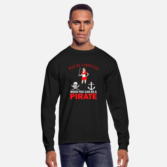 Pirate Flag Long-Sleeve Shirts - Skeleton Pirates Blind Pirates Vintage Skull - Men's Longsleeve Shirt black