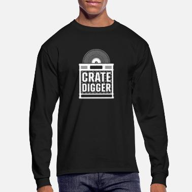 Crate digger - lp vinyl collector gift - Men's Longsleeve Shirt
