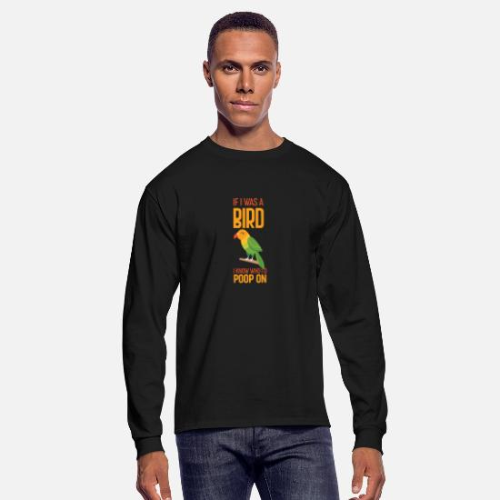 Quotes Long-Sleeve Shirts - Bird Quote - Men's Longsleeve Shirt black