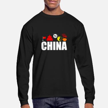 Chinese New Year China Impression Vacation Souvenir Funny Gift Idea - Men's Longsleeve Shirt