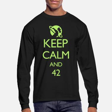 Geek Keep Calm and 42 VECTOR - Men's Longsleeve Shirt