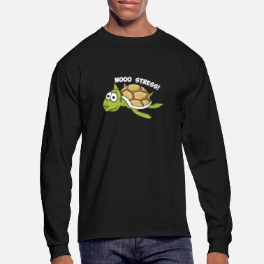 Stress No Stress Shirt - Turtle Gift - Men's Longsleeve Shirt