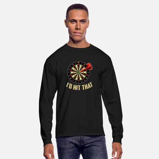Darts Long-Sleeve Shirts - Funny Dart - Men's Longsleeve Shirt black