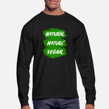 Natural Vegan - nature - natural - Men's Longsleeve Shirt