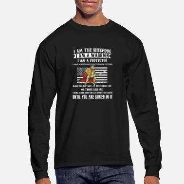 Sheepdog Police I AM THE SHEEPDOG I AM A WARRIOR I AM A PROTECTOR - Men's Longsleeve Shirt