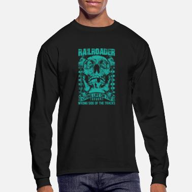 Illinois Central Railroad Railroader Living life on the wrong side Railroad - Men's Longsleeve Shirt
