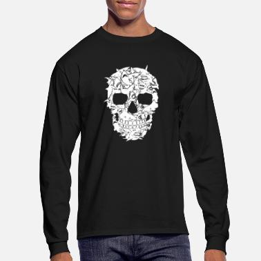 Skull Shark Skull Shirts - Men's Longsleeve Shirt