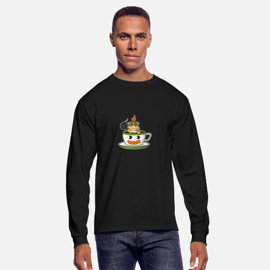Game Long-Sleeve Shirts - tea koopa - Men's Longsleeve Shirt black