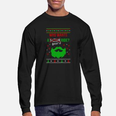Bearded bearded man christmas shirt - Men's Longsleeve Shirt